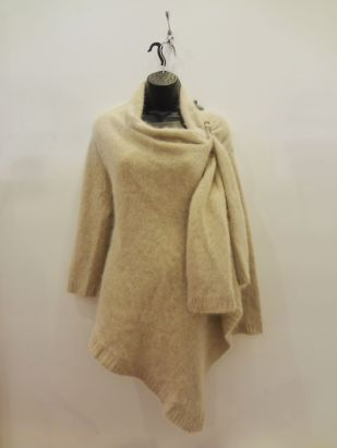 Monsoon Cream/Sand Angora Wrap Sweater $69.00