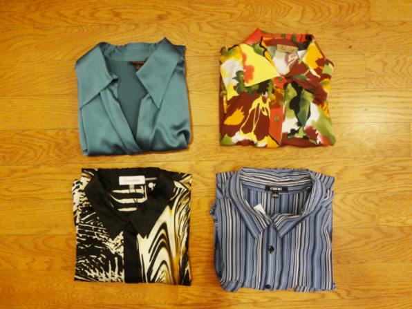 Button Ups: Tesori Teal$39 - Peck & Peck Multi $29 - Calvin Klein Animal Print $29