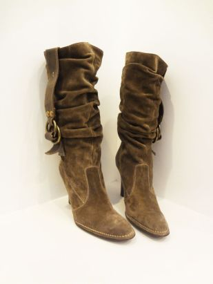 Coach Taupe Suede Boots (Size 9.5) - $199