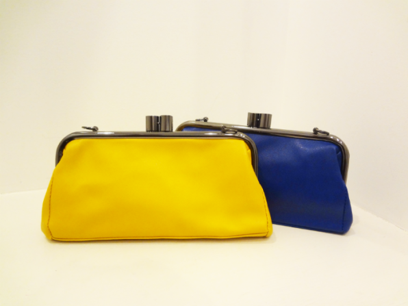 Clutches in Mustard and Royal Blue - $34.00