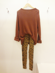 Bryn Walker Sweater - $39 Baroque Print Leggings - $15