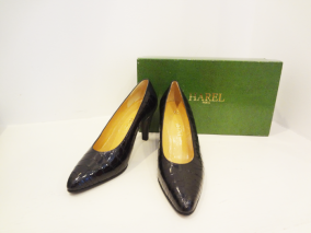 Vintage, custom made crocodile heels from Harel boutique in Paris - $149