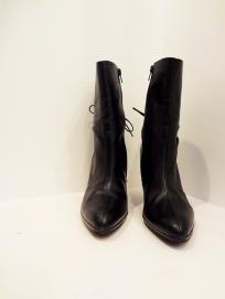 Gianni Bini Black Leather Bootie - $79
