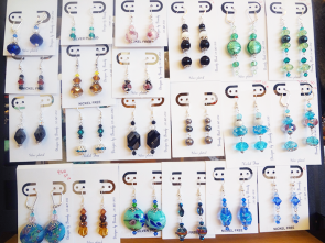 Handmade Earrings Designed by Brandy (various materials, such as glass, crystal, etc.) - $20-50
