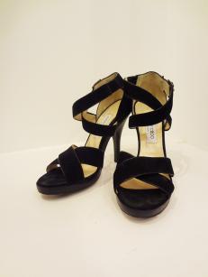 Jimmy Choo Black Suede Heels - $279
