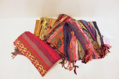 "Assorted ""Picasso Collection"" Scarves (Handmade in Napal, Silk & Viscose) - $59"