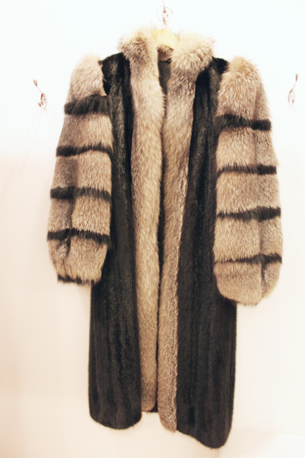 Full Length Dark Ranch Mink/Silver Fox Fur Coat - $2,300.00
